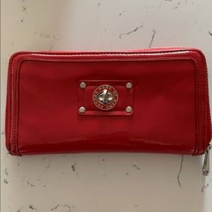 Marc by Marc red patten leather wallet